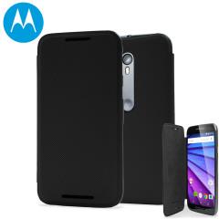Official Motorola Moto G 3rd Gen Flip Shell Cover - Black