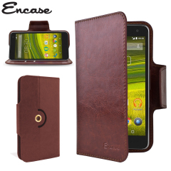 Wrap your EE Harrier Mini in luxurious, sophisticated protection with the brown Encase Leather-Style Wallet Stand Case. This stylish case has credit card slots and can transform into a convenient viewing stand which rotates between portrait and landscape.