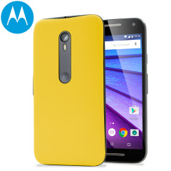 Official Motorola Moto G 3rd Gen Shell Replacement Back Cover - Yellow