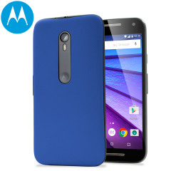 Official Motorola Moto G 3rd Gen Shell Replacement Back Cover - Blue