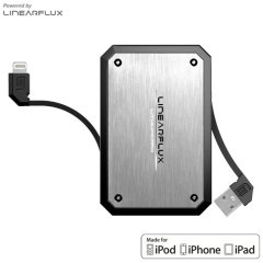 Batterie externe Linearflux LithiumCard Pro Lightning - Argent