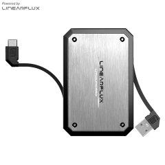 Batterie externe Linearflux LithiumCard Pro Micro USB - Argent