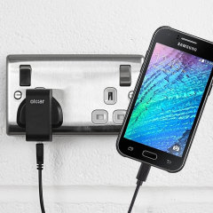 Charge your Samsung Galaxy J1 2015 quickly and conveniently with this compatible 2.4A high power charging kit. Featuring mains adapter and USB cable.