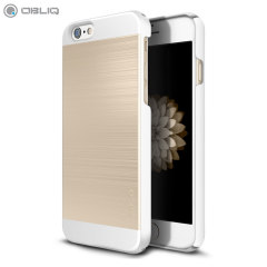 Obliq Slim Meta II Series iPhone 6S / 6 Hülle in Weiß/Champagner Gold