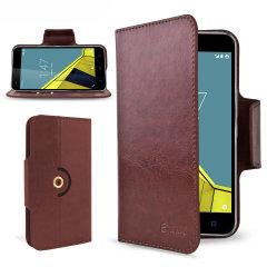 Elegante Schutztasche für das Vodafone Smart Ultra 6 mit integrierten Staufächern und Standfunktion.