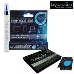 This special pack combines two award-winning products: Crystalusion Plus Anti-Bacterial Spray and Liquid Glass Screen Protection to keep your screen free of damage and dangerous organisms.