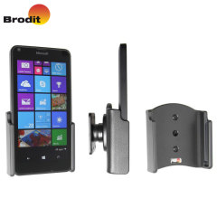 Use your Microsoft Lumia 640 safely in your vehicle with this small, neat and discreet Brodit Passive holder, complete with tilt swivel. Also compatible with the Lumia 640.