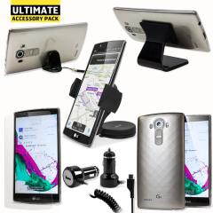 Das Ultimate Pack LG G4 Zubehör Set in Schwarz