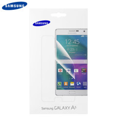 Keep your Samsung Galaxy A5 2015's screen in fantastic condition with the official Samsung scratch resistant screen protector twin pack.