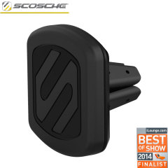 Effortlessly dock your smartphone on your car's vents via the power of magnets with the Scosche Magic Mount Vent 2. This universal magnetic car mount even works with your case, allowing you to keep your phone protected while you drive.