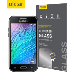 Olixar Samsung Galaxy J1 Tempered Glass Displayschutz