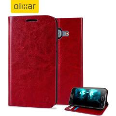 Beskytt din Samsung Galaxy J1 2015 samtidig som du holder dine kort og penger sikre med lommeboks dekslet Olixar i lærstilformat.