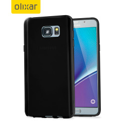 FlexiShield Samsung Galaxy Note 5 Gel Case - Solid Black