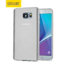 Coque Samsung Galaxy Note 5 FlexiShield Gel - Blanche givrée
