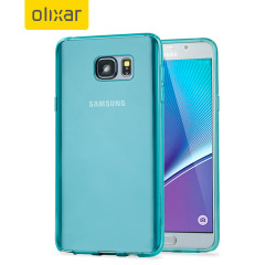 Custom moulded for the Samsung Galaxy Note 5. This blue Encase FlexiShield case provides a slim fitting stylish design and durable protection against damage, keeping your device looking great at all times.