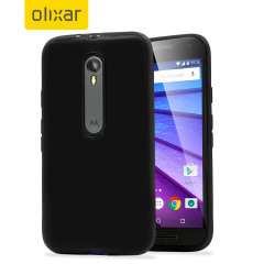 Custom moulded for the Motorola Moto G 3rd Gen, this black FlexiShield case by Olixar provides slim fitting and durable protection against damage.