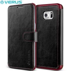 Verus Dandy Samsung Galaxy S6 Edge+ Wallet Case Tasche in Schwarz