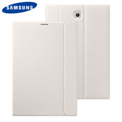 Keep your Samsung Galaxy Tab S2 8.0 protected from damage with this official white Samsung book cover with integrated multi-level stand.