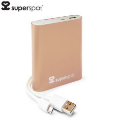 Chargeur portable 10400mAh SuperSpot – Or rose