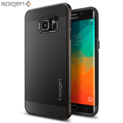 Custodia Spigen Neo Hybrid Carbon per Galaxy S6 Edge+ - Gunmetal