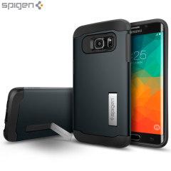Spigen Slim Armor Samsung Galaxy S6 Edge Plus Case - Metal Slate
