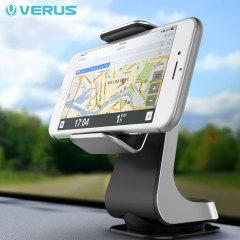 Coloque su smartphone, con o sin funda, en una posición cómoda y segura mientras se desplaza con su vehículo. Gracias a este soporte de coche Verus Hybrid Grab.