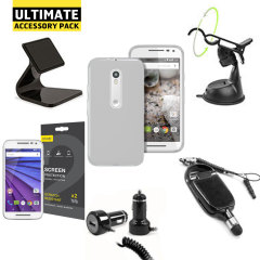 The Ultimate Pack for the Motorola Moto G 3rd Generation consists of fantastic must have accessories designed specifically the phone.