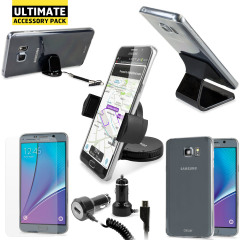 The Ultimate Samsung Galaxy Note 5 Accessory Pack protects, charges and holds your Samsung Galaxy Note 5 with super-useful accessories.