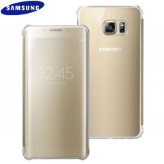 Cover originale Clear View Samsung per Galaxy S6 Edge+ - Oro