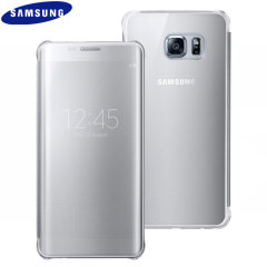 Original Samsung Galaxy S6 Edge+ Clear View Cover Case in Silber