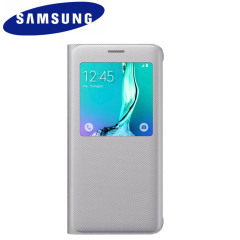 Official Samsung Galaxy S6 Edge Plus S View Cover Case - Silver