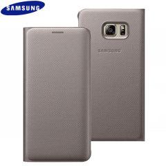 Custodia a portafogli Originale Samsung Galaxy S6 Edge+ - Oro