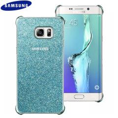 Cover Glitter originale Samsung per Galaxy S6 Edge+ - Celeste