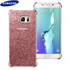 Offizielles Samsung Galaxy S6 Edge+ Glitter Cover Case Hülle in Pink