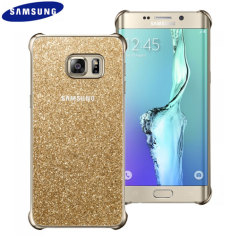 Offizielles Samsung Galaxy S6 Edge+ Glitter Cover Case Hülle in Gold