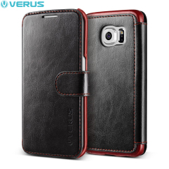 Verus Dandy Samsung Galaxy S6 Edge Wallet Case Tasche in Schwarz