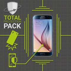 Guard your beautiful Samsung Galaxy S6 from damage with the Olixar Total Protection Pack. Featuring a slim polycarbonate case and an ultra-response glass screen protector, this pack provides the ultimate in lightweight protection.