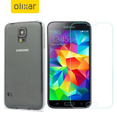 Guard your beautiful Samsung Galaxy S5 from damage with the Olixar Total Protection Pack. Featuring a slim polycarbonate case and an ultra-response glass screen protector, this pack provides the ultimate in lightweight protection.