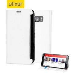 Custodia a portafogli ecopelle Olixar per Galaxy S6 Edge+ - Bianco