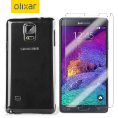 Olixar Total Galaxy Note 4 Case Hülle Displayschutzpack
