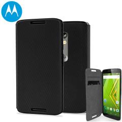 Official Motorola Moto X Play Flip Shell Cover - Black