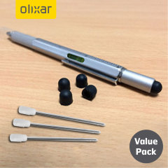The Olixar HexStyli 6-in-1 stylus pen is the ultimate accessory for tablet and smartphone users  and this extra value pack offers 3 extra refills and 5 extra stylus tips to keep you in action for longer!