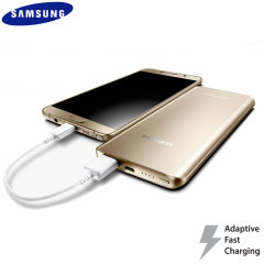 This gold official 5,200mAh fast charge power bank from Samsung is the perfect way to keep your fast charge compatible smartphone or tablet charged while out and about - in next to no time.