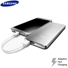 This silver official 5,200mAh fast charge power bank from Samsung is the perfect way to keep your fast charge compatible smartphone or tablet charged while out and about - in next to no time.