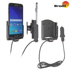 Laad en gebruik je Samsung Galaxy S6 in je auto met deze Brodit actieve houder met tilt swivel en een goedgekeurde oplaadkabel.