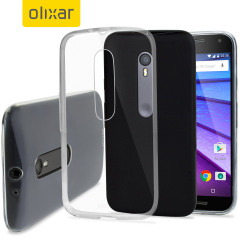 Custom moulded for the Motorola Moto G 3rd Gen, this 100% clear Ultra-Thin FlexiShield case by Olixar provides slim fitting and durable protection against damage while adding next to nothing in size and weight.