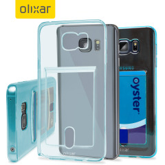 FlexiShield Slot Samsung Galaxy Note 5 Gel Case - Blauwe Tint