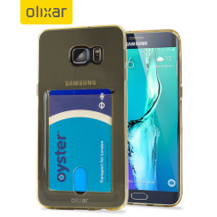 Custom moulded for the Samsung Galaxy S6 Edge+. This gold tinted FlexiShield Slot case provides a slim fitting stylish design and durable protection against damage, while adding the convenience of a card slot into the bargain!