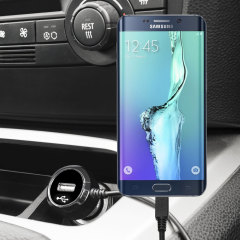 Keep your Samsung Galaxy S6 Edge+ fully charged on the road with this high power 2.4A Car Charger, featuring extendible spiral cord design. As an added bonus, you can charge an additional USB device from the built-in USB port!
