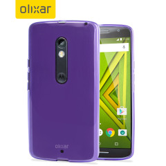 Custom moulded for the Moto X Play, the FlexiShield case in purple provides slim fitting, stylish design and protection against damage, keeping your device looking great at all times.